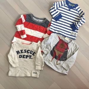 Other - Baby boy's long sleeve tees 6M